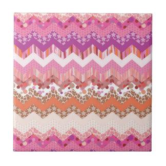 Pink zigzag background tile