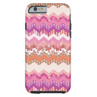 Pink zigzag background tough iPhone 6 case