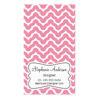 Pink Zigzag Business Card