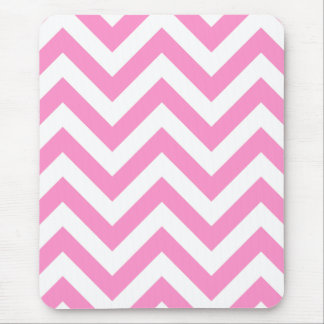 Pink zigzag chevron pattern mouse pad