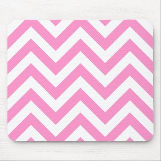 Pink zigzag chevron pattern mousepads
