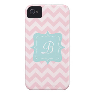 Pink Zigzag Monogram Case-Mate iPhone 4 Cases