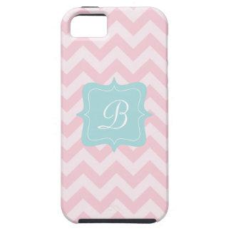 Pink Zigzag Monogram iPhone 5 Cover
