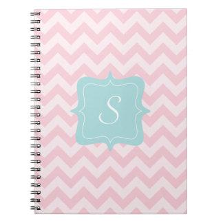 Pink Zigzag Monogram Notebooks