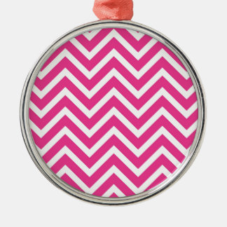 Pink Zigzag pattern Christmas Ornament