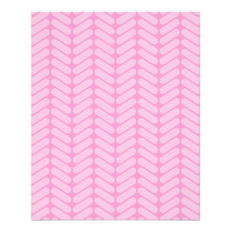 Pink Zigzag Pattern inspired by Knitting. 11.5 Cm X 14 Cm Flyer