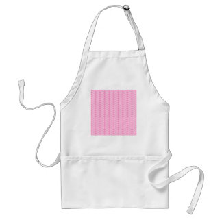 Pink Zigzag Pattern inspired by Knitting. Standard Apron