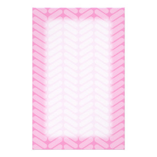 Pink Zigzag Pattern inspired by Knitting. Stationery Design