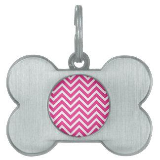 Pink Zigzag pattern Pet ID Tag