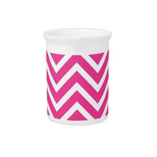 Pink Zigzag pattern Pitcher