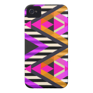 Pink Zigzag Pop Aztec Case-Mate iPhone 4 Cases
