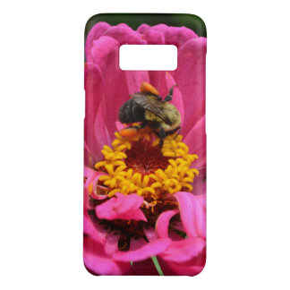 Pink Zinnia and Bumble bee Case-Mate Samsung Galaxy S8 Case