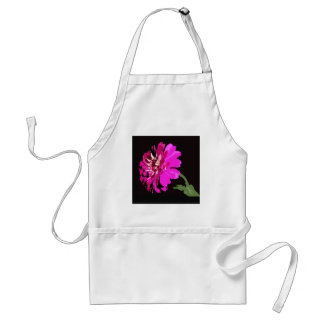 Pink Zinnia Floral Photography Design Adult Apron