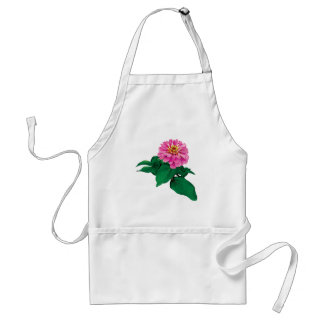 Pink Zinnia Looking Up Apron