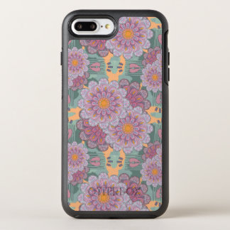 Pink Zinnia Mandala Pattern OtterBox Symmetry iPhone 8 Plus/7 Plus Case