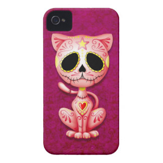 Pink Zombie Sugar Kitten iPhone 4 Case-Mate Cases