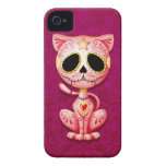 Pink Zombie Sugar Kitten iPhone 4 Cover