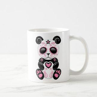 Pink Zombie Sugar Panda Basic White Mug
