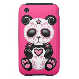 Pink Zombie Sugar Panda Tough iPhone 3 Covers