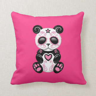 Pink Zombie Sugar Panda Cushion
