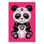 Pink Zombie Sugar Panda Poster