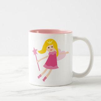 PinkFairies2 Two-Tone Mug