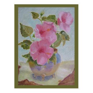 pinkflowers postcards