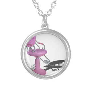 PinkHairDresserChair070315.png Round Pendant Necklace