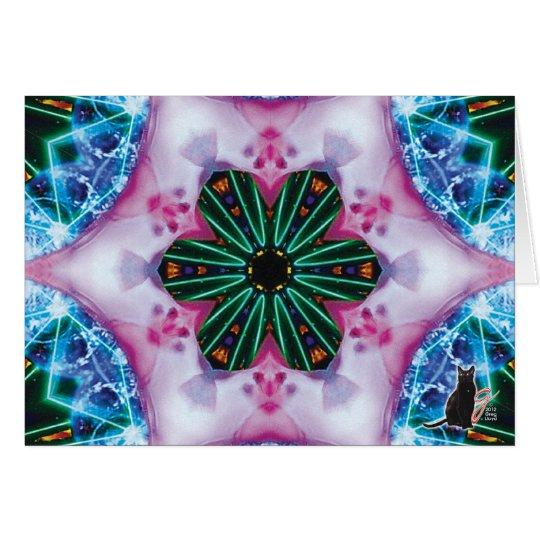 Pinkie KC Kaleidoscope Greeting Card