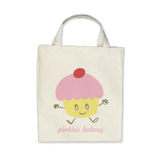 Pinkie's Bakery Cupcake Canvas Bag