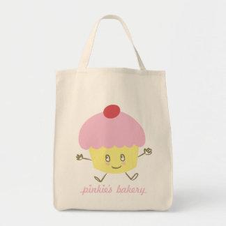 Pinkie's Bakery Cupcake Grocery Tote Bag