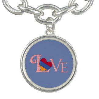 Pinkish Armenian LOVE on Blue