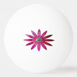 Pinkish Eye Flower Ping Pong Ball