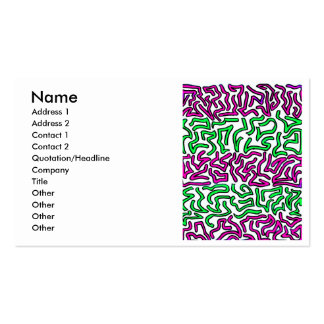 Pinkish Purple and Green Chunky Shapes doodle Business Cards