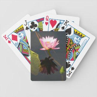 Pinkish Purple Waterlily Lotus Playing Cards