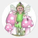 Pinkiwinks Round Sticker