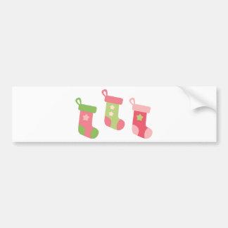 PinkLimeChristmas2 Bumper Sticker