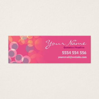 Pinko Bubbles Mini Business Contact Card