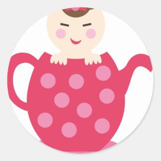 PinkPABookP12 Round Sticker