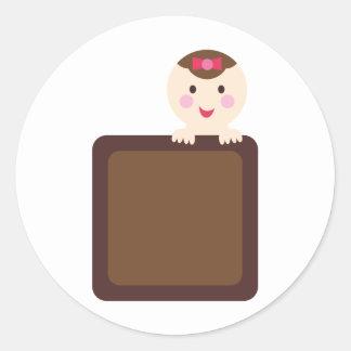 PinkPABookP3 Round Sticker