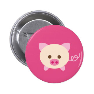 PinkPig2 6 Cm Round Badge