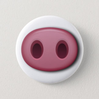 PinkPig Snout 6 Cm Round Badge