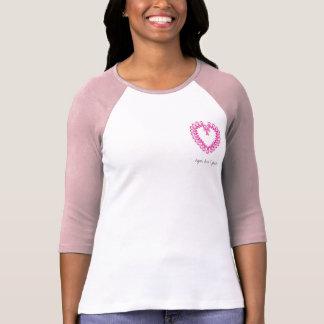 PinkRibbon Heart, hope, love & faith T Shirts