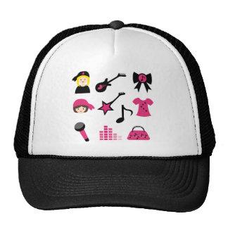 PinkRockstar2 Mesh Hat