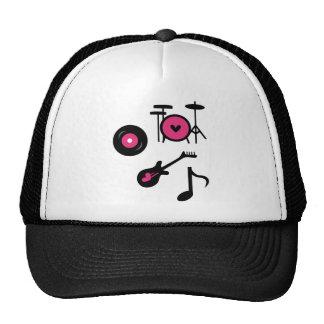 PinkRockstar3 Trucker Hats