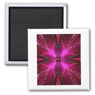 PinkRose Petal Ark - Illuminated Sparkle Square Magnet