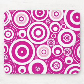 Pinks Circles Mouse Mat