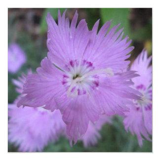 "Pinks Close Garden 5.25"" Square Invitation Card"