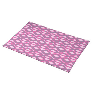 Pinks on Purple Abstract Placemat