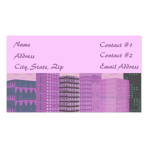 Pinkscape Business Cards